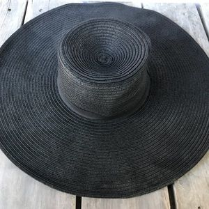 H&M Black Floppy Round Sun Hat Size L